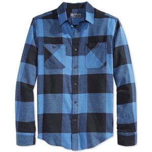 American Rag Blue Buffalo Check Soft Flannel